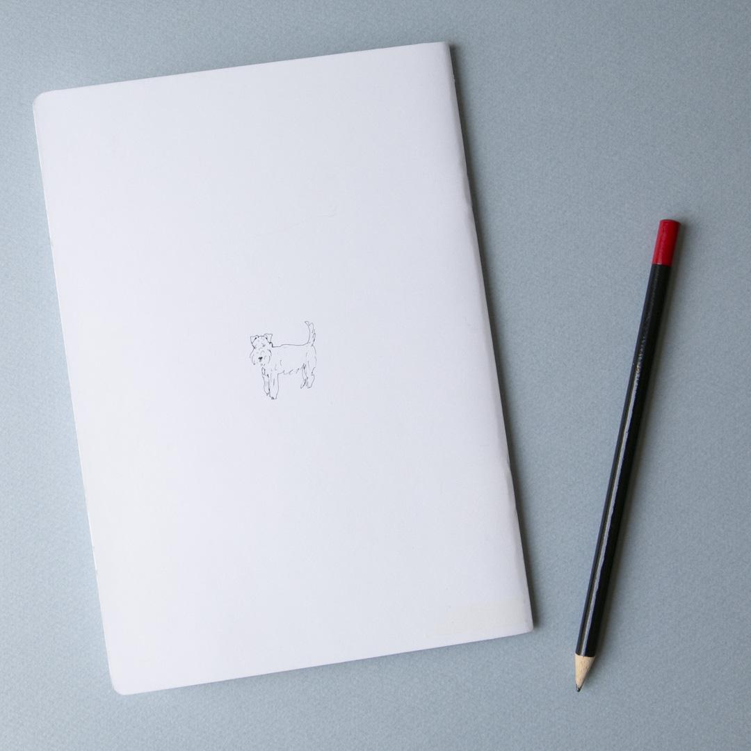 A5中綴じノート(トイプードル)