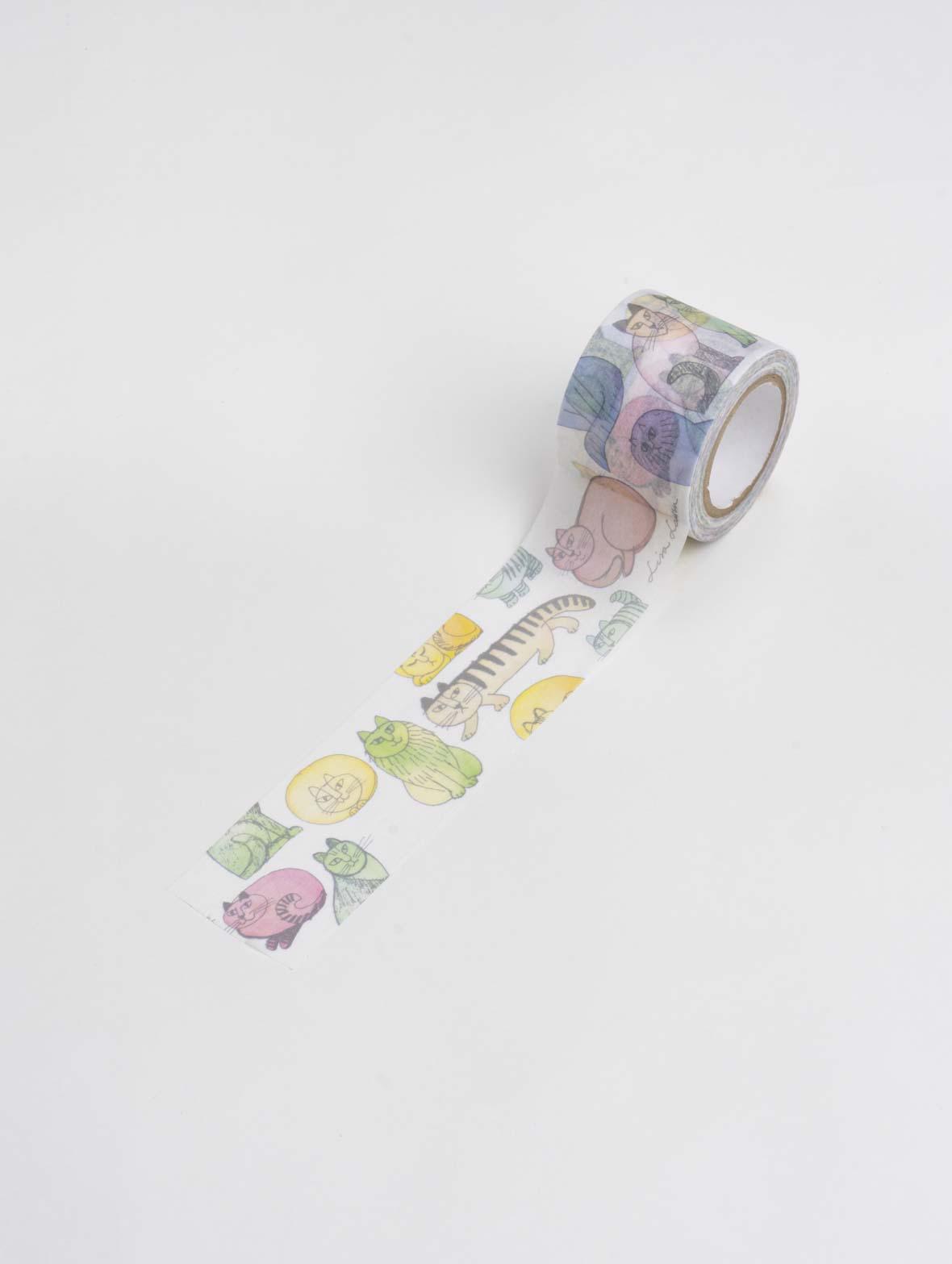 マスキングテープ(35mm・ マカロンのスケッチねこたち)