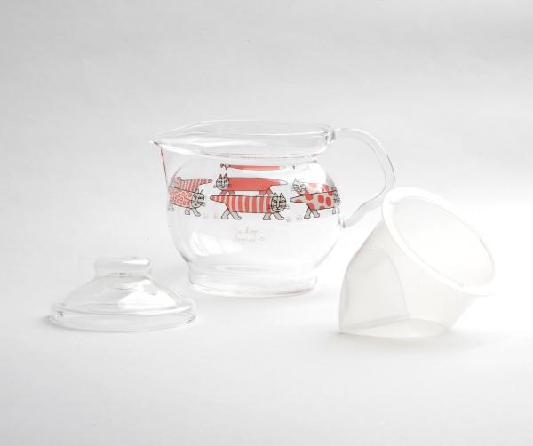 ガラス ティーポット  チャミエルVポット(マイキー)