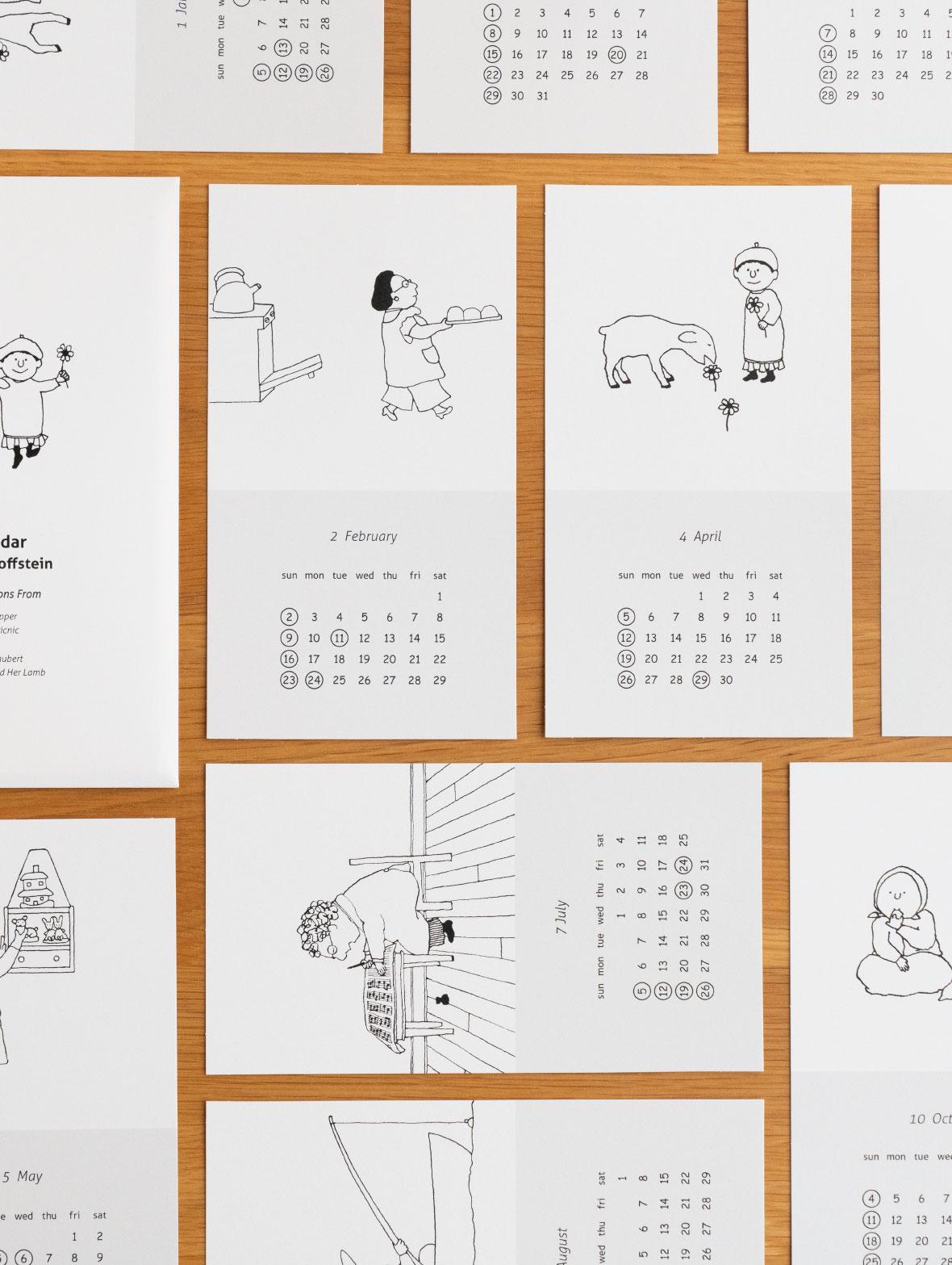 M.Bゴフスタイン 2020 カレンダー