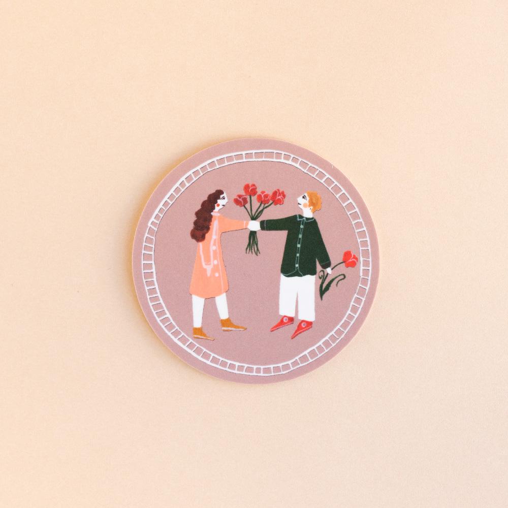 コースターラウンド (Share Flowers)