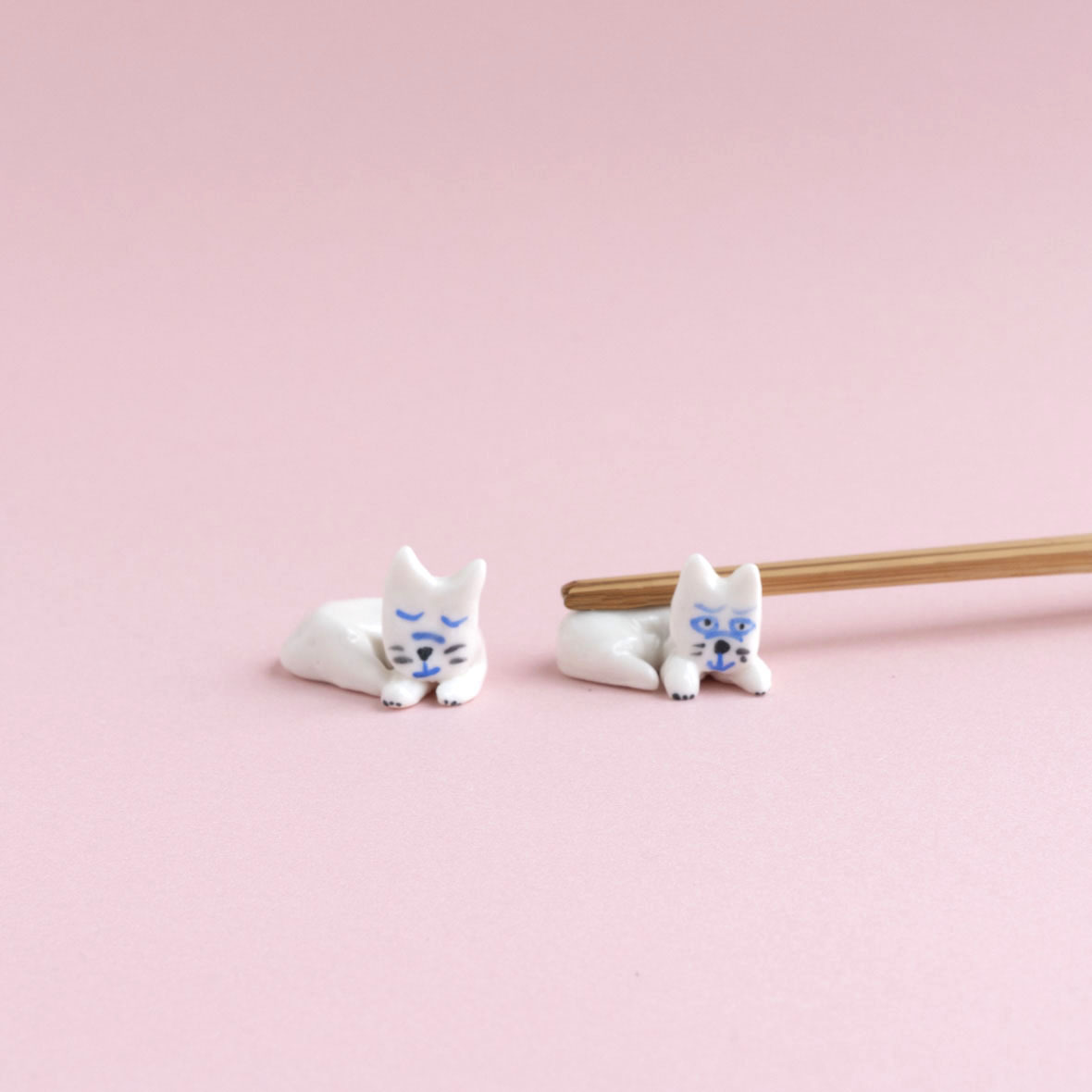 【TK】箸置き(ねこ・ラウンド)NO.10