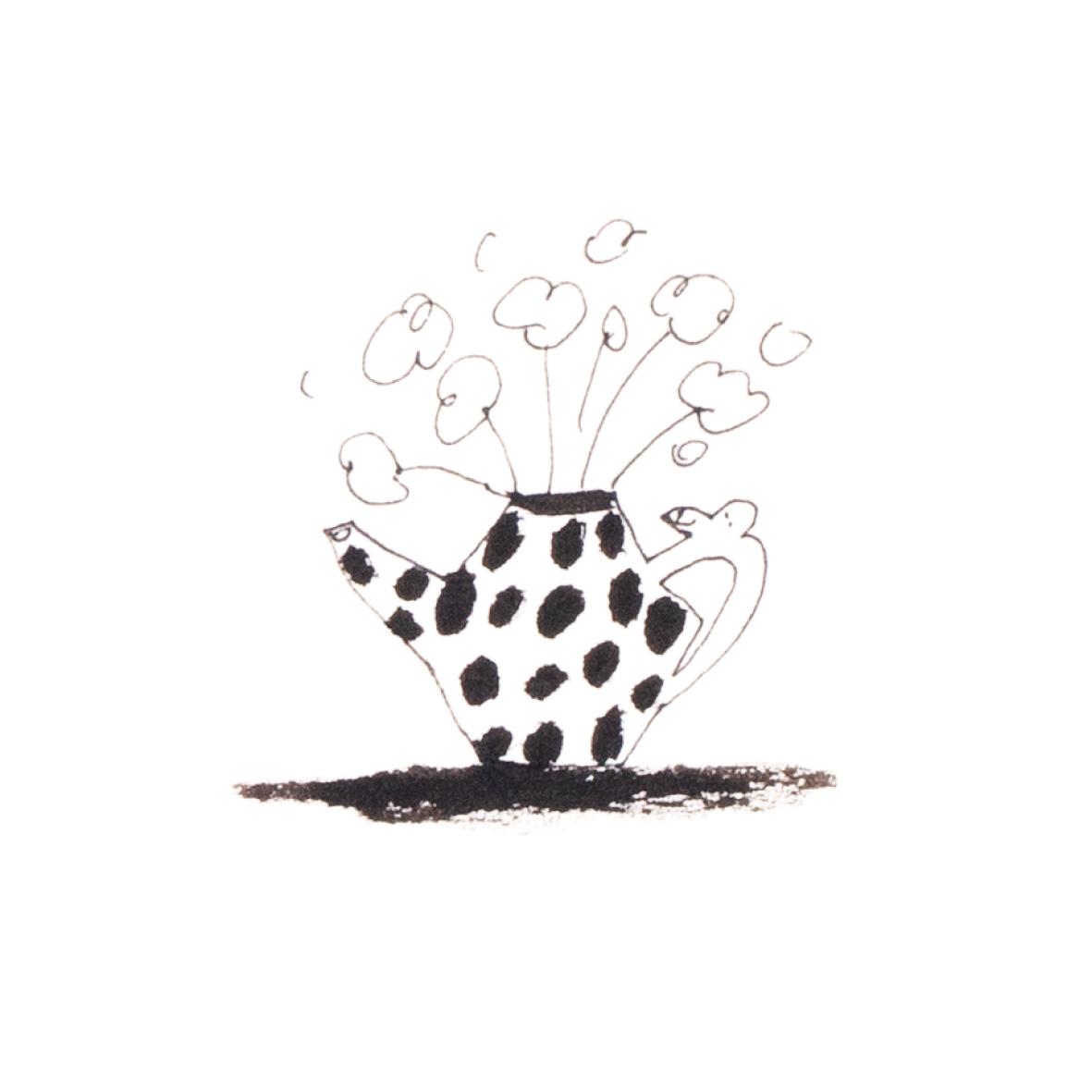 【TK】Flower Coffee Pot Painting NO.1(額付き)