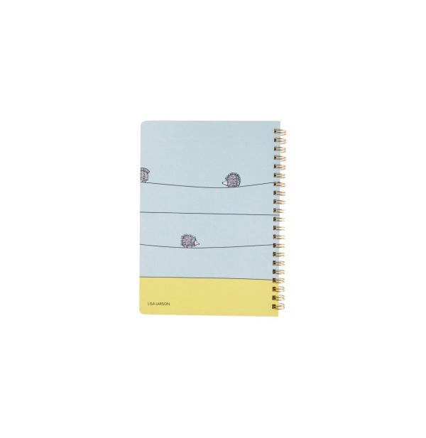 A5リングノート(ハリネズミ三兄弟)水色