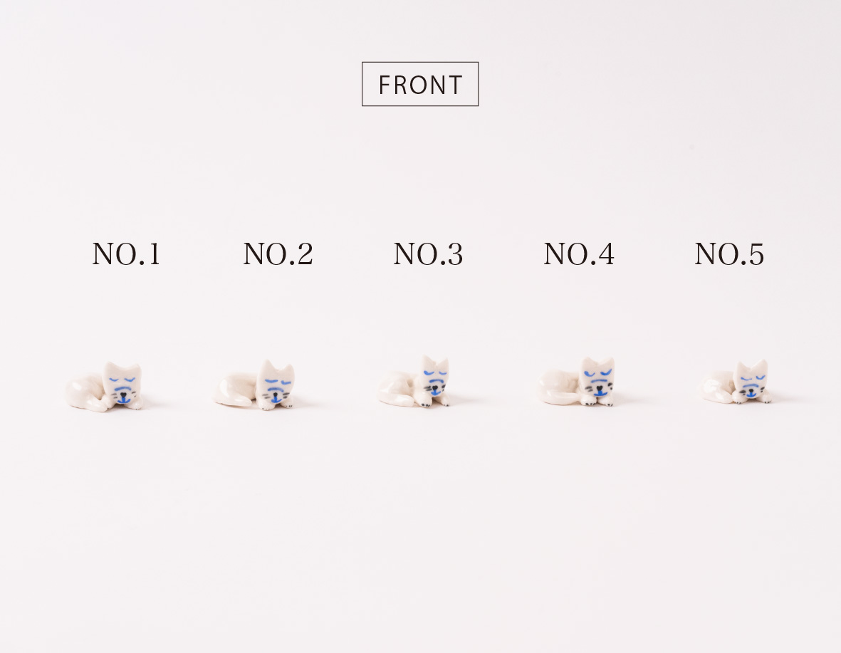 【TK】箸置き(うたたねしているねこ・ラウンド)NO.2