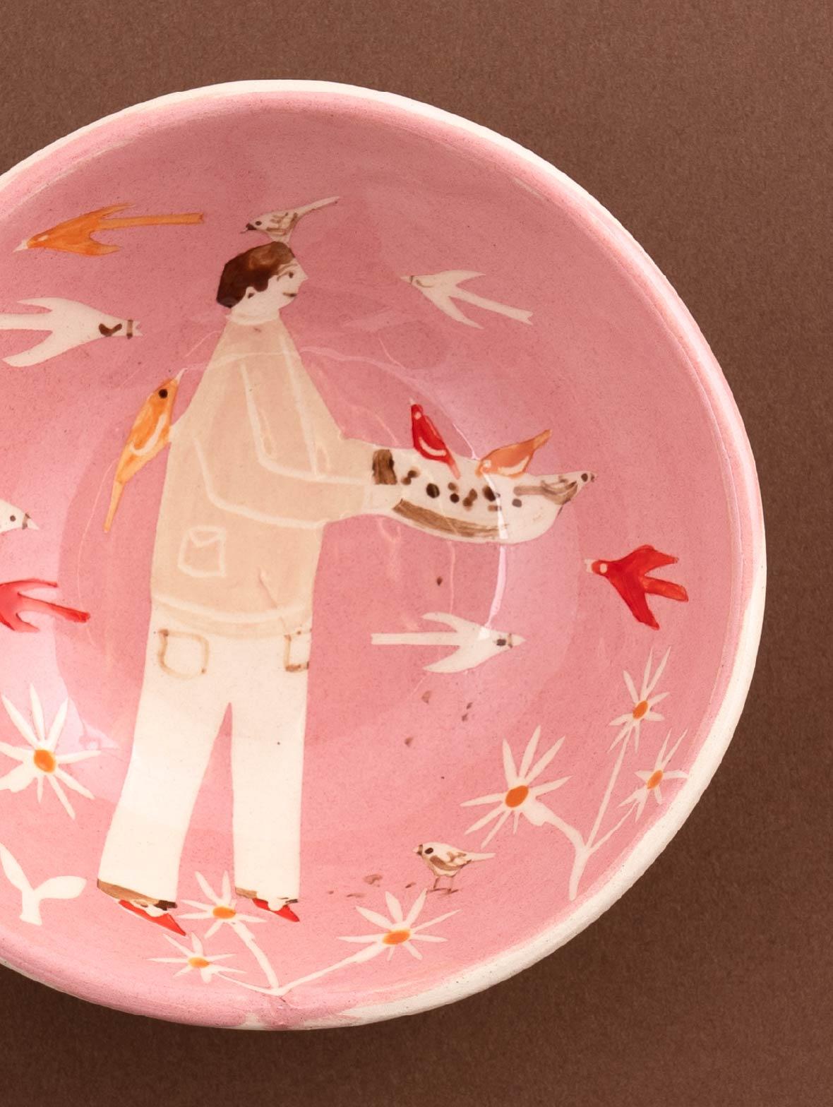 12cm Medium Dish Pink