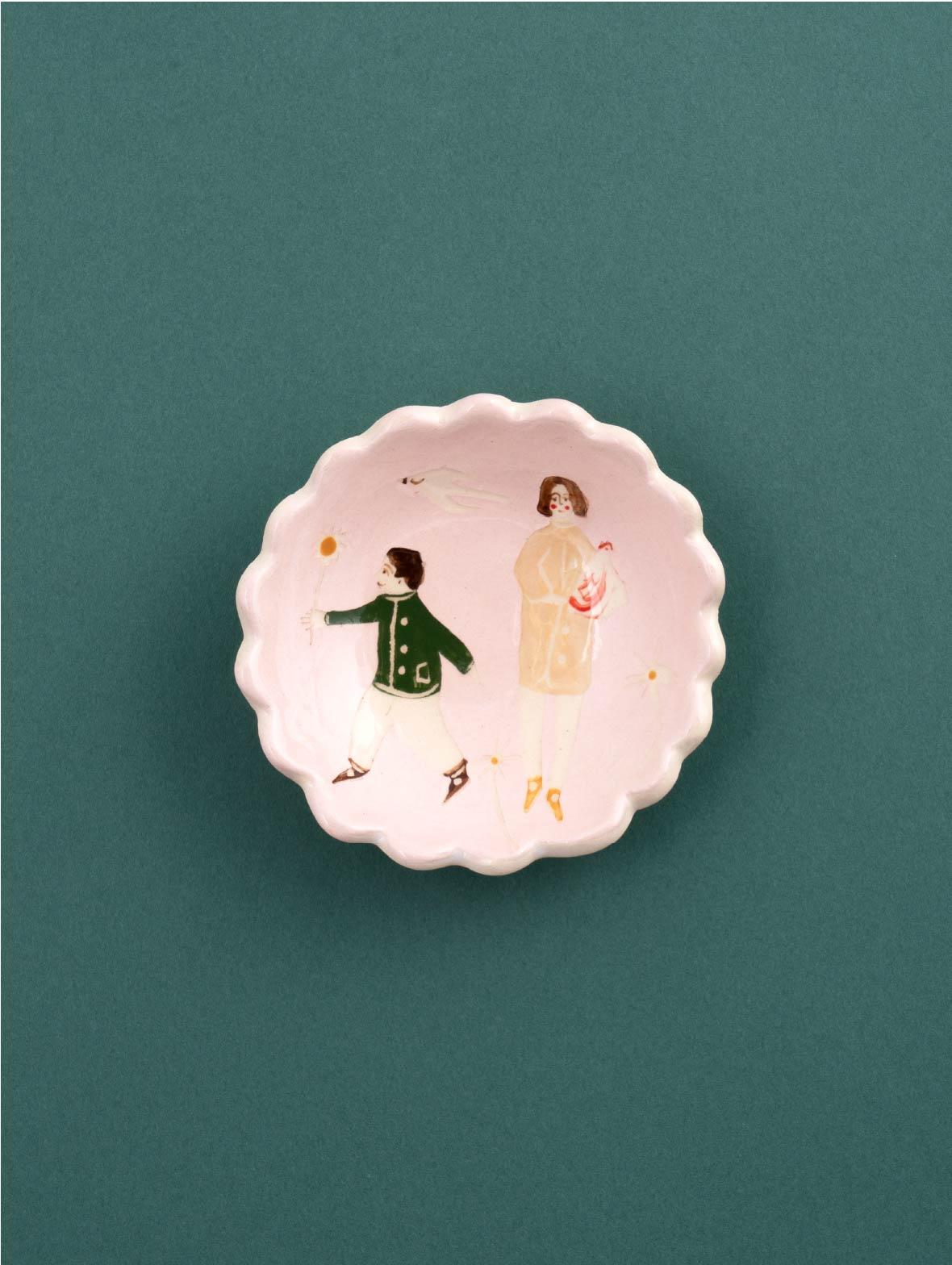 9.5cm Small Dish Light Pink