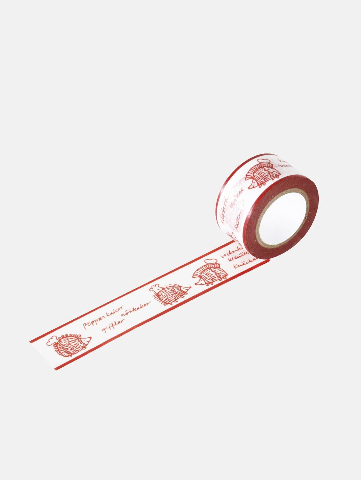 マスキングテープ(25mm・ハリネズミパン屋さん)