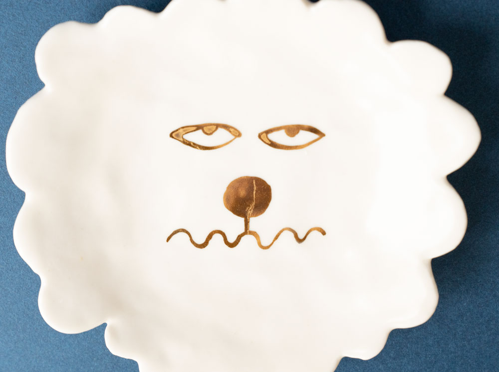 (E)【TK】Dog Face Plate 5