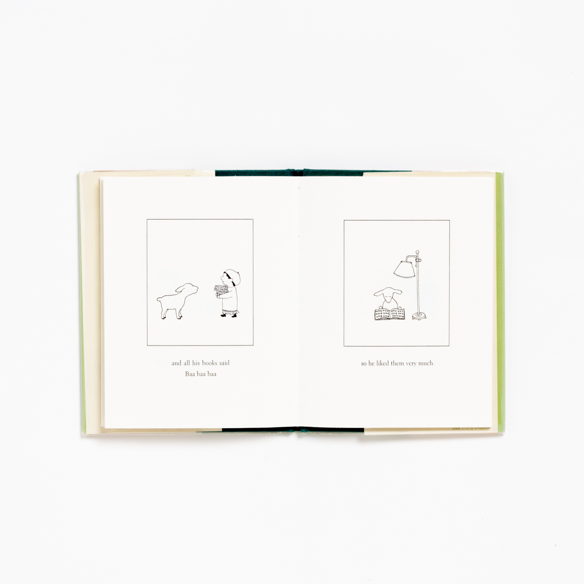 【TK】額装プリント M.B. Goffstein「きにいった本」