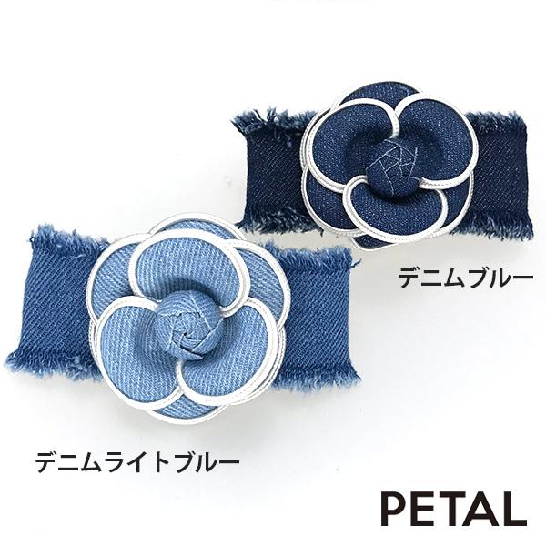 大人のローズデニムバレッタ【PETAL MARKET】