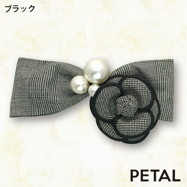 QUI新作バレッタローズリボン【PETAL MARKET】