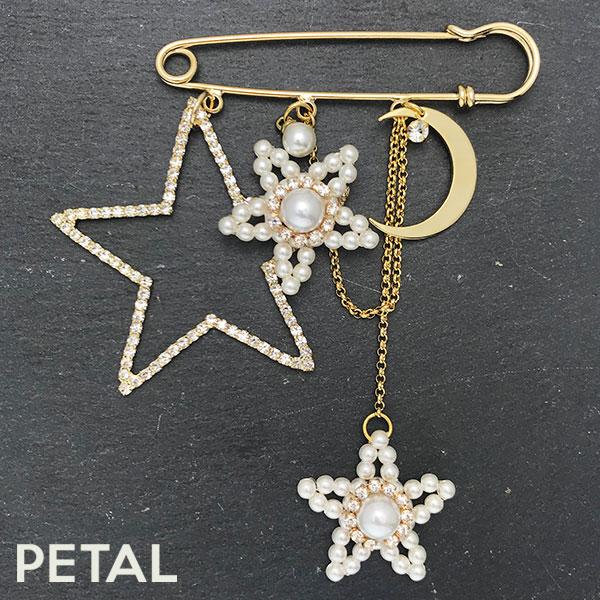 高貴でかわいい星のピンブローチ【PETAL MARKET】