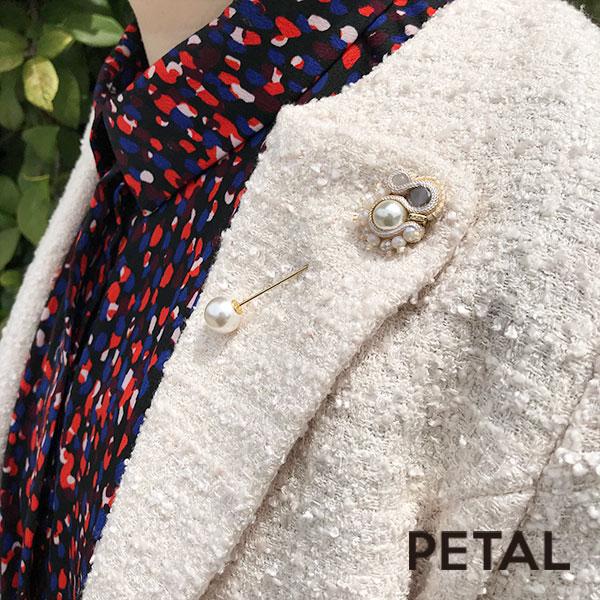 ピンブローチ・ホワイトバレー 【PETAL MARKET】