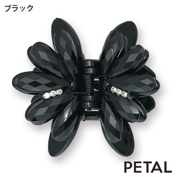 新色入荷 BLACK フラワークリップ【PETAL MARKET】
