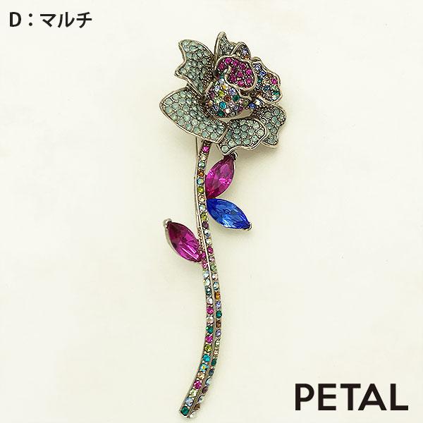 1本の薔薇ブローチ【PETAL MARKET】