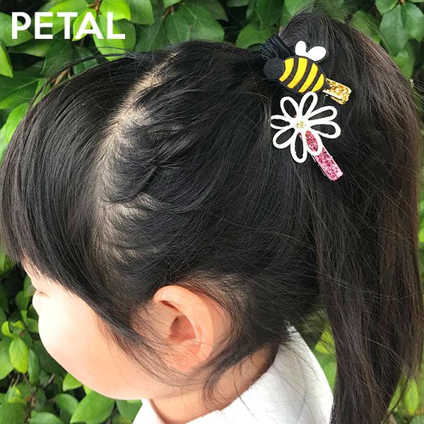 BEE=ミツバチとお花セットピン【PETAL MARKET】