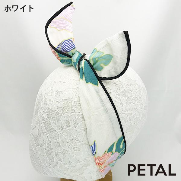 フラワー柄ワイヤーターバン【PETAL MARKET】