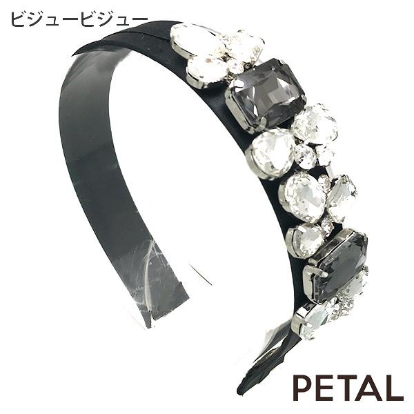 QUI新作カチューシャビジュービジューサテン【PETAL MARKET】