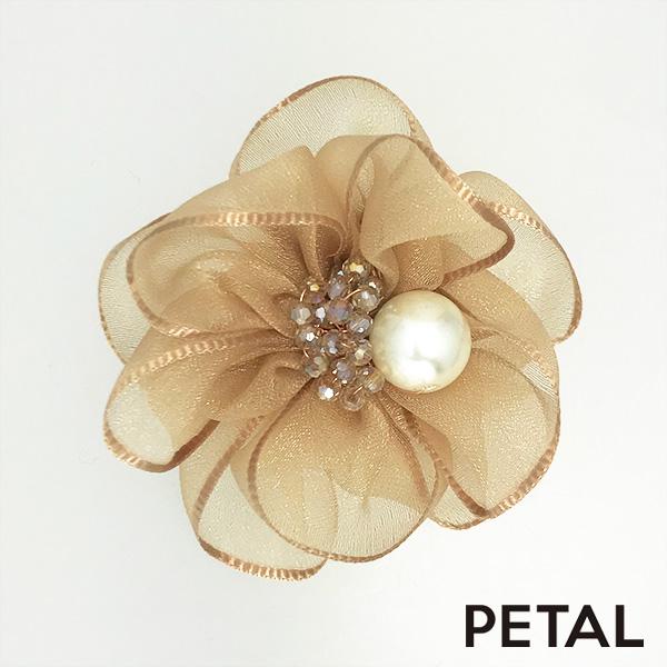 お花とパール☆コサージュ&ピン 【PETAL MARKET】