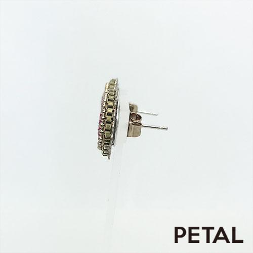 NEW王妃のベルベットの丸ピアス 【PETAL MARKET】