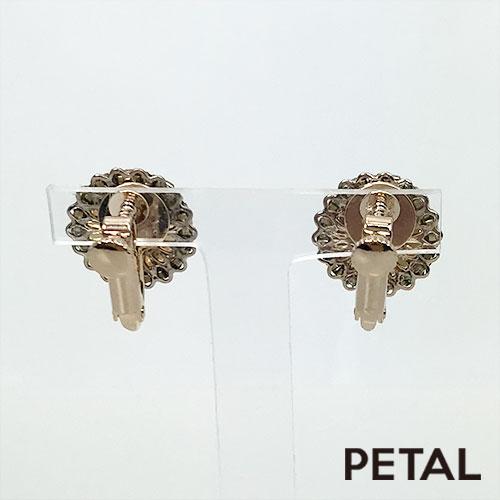 NEW王妃のベルベットの丸イヤリング 【PETAL MARKET】
