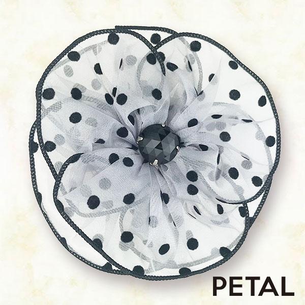 ドットフラワーブローチ【PETAL MARKET】