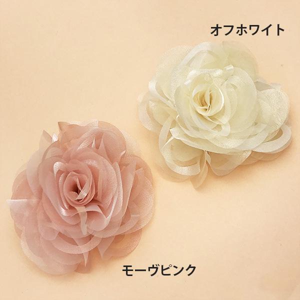 ブライダル☆オーガンジー薔薇ピン【PETAL MARKET】