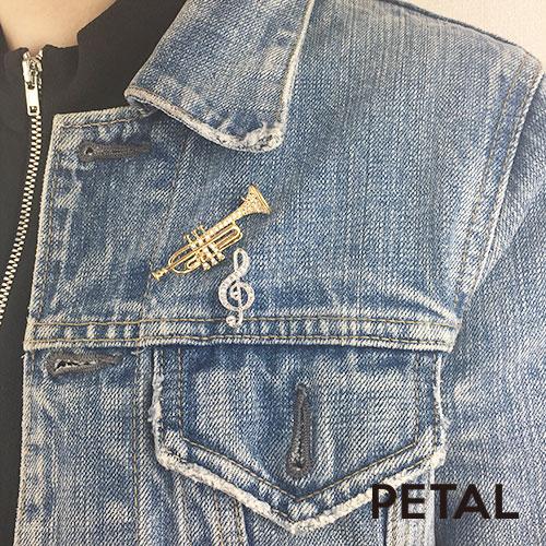 NEWブローチ・トランペット 【PETAL MARKET】