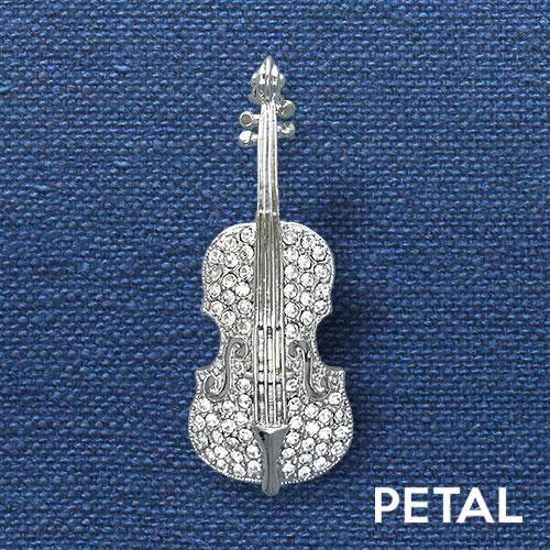 NEWブローチ・バイオリン(L) 【PETAL MARKET】