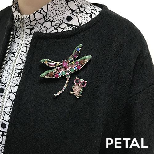 紳士なフクロウがやってきたブローチ【PETAL MARKET/TonnyWords】