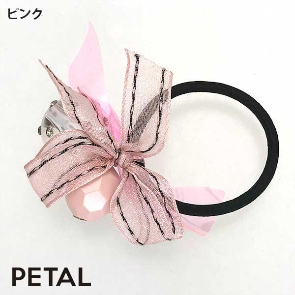 キュートなクリスタルリボンゴム【PETAL MARKET】