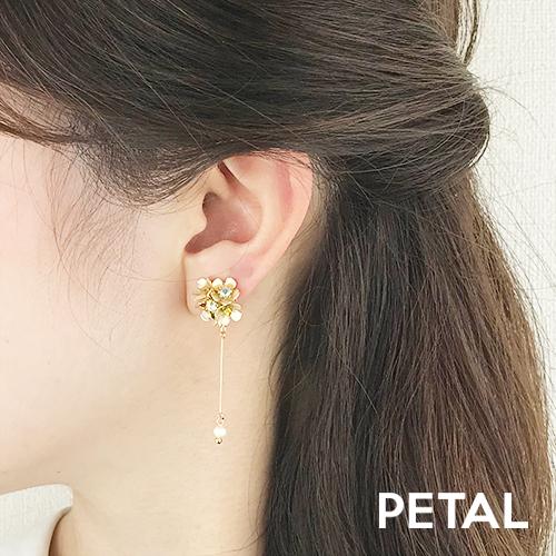NEWお花と淡水パールのイヤリング・セリーヌ 【PETAL MARKET】