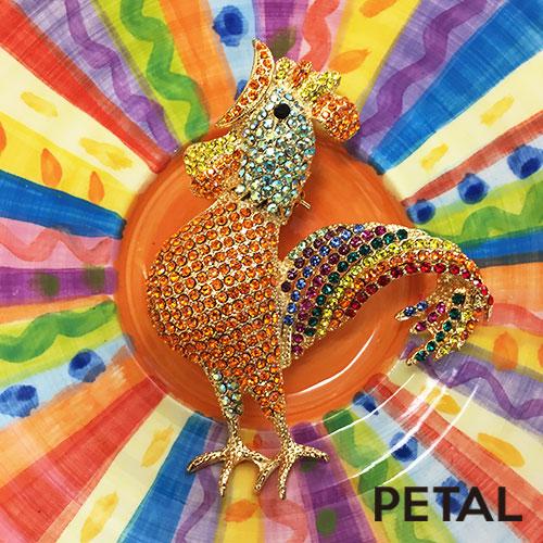 オペラなニワトリブローチ【PETAL/TonnyWords】