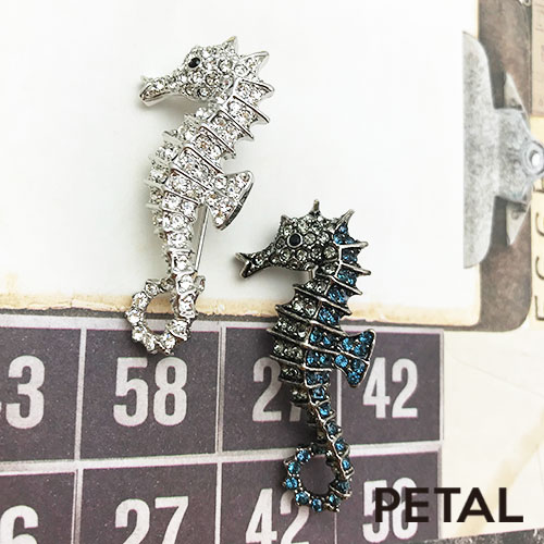 NEWブローチ・タツノオトシゴ 【PETAL MARKET】