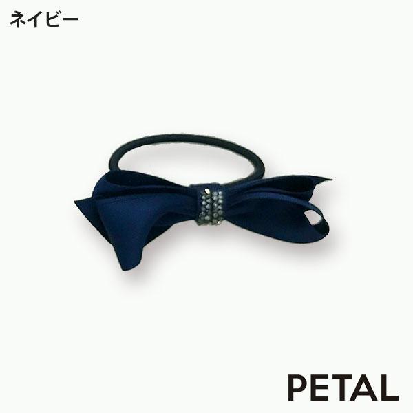 品のあるビジューをあしらったミニリボンゴム【PETAL MARKET】