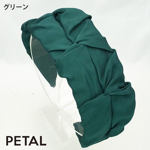 新作大人ギャザーフラットカチューシャマロン【PETAL MARKET】