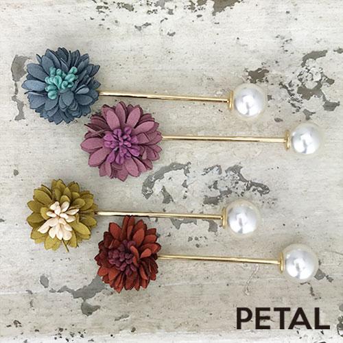 お花とパールのヘアバトン 【PETAL MARKET】