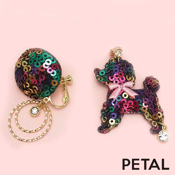 KIDSイヤリングキラキラプードル 【PETAL MARKET】