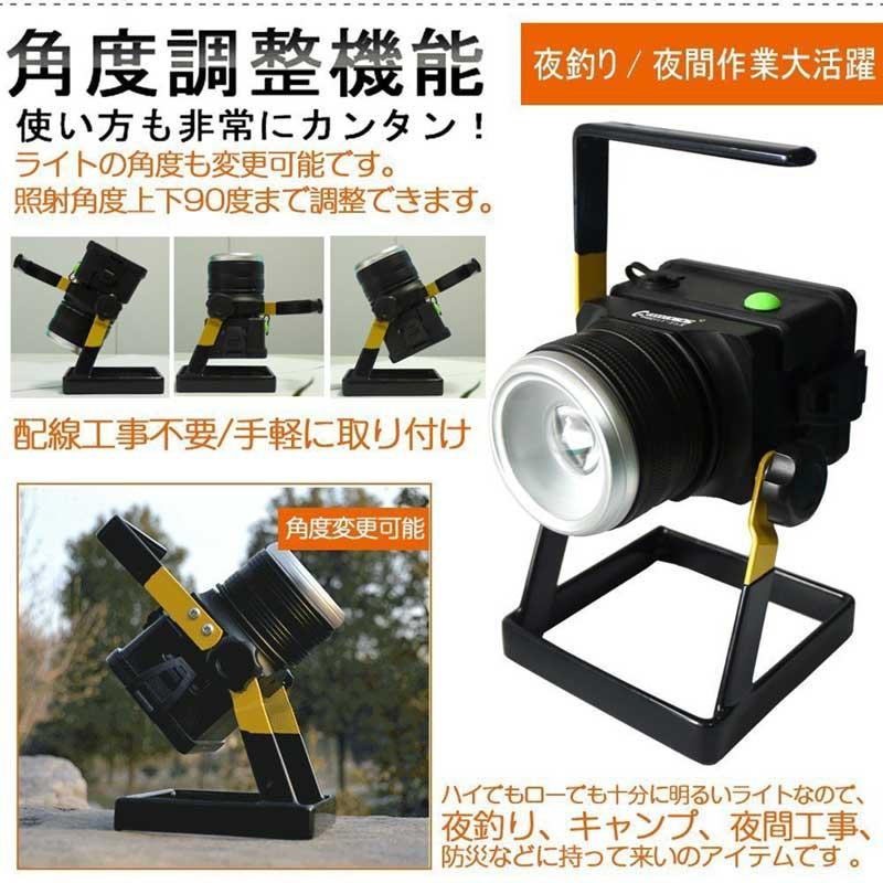 12w充電式LED投光器 電池交換式