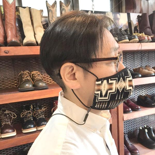 【MASK STRAP(マスクストラップ)】マスク用ストラップ 首掛け アウトドア ドローコード