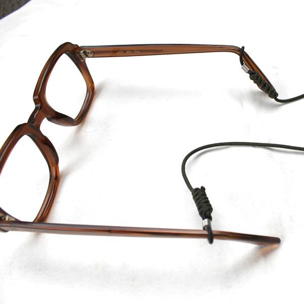 【GLASSES STRAP(グラス ストラップ)】眼鏡用ストラップ 首掛け アウトドア ドローコード