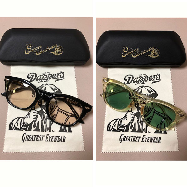 【Dapper's (ダッパーズ) x GROOVER(グルーバー) 】 GROOVER Wname Eyewear Type CRATER LOT1390