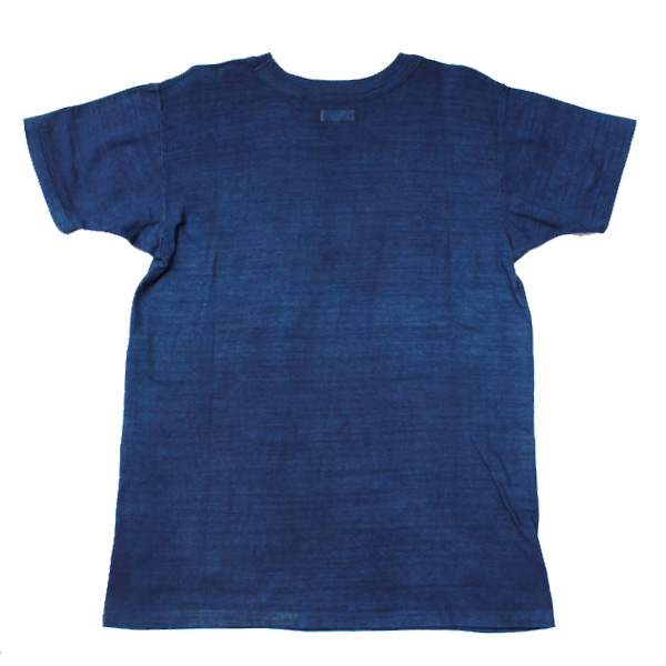 【Dapper's(ダッパーズ)】Natural Indigo Dye Crew Neck Tee Special Sewing Model LOT1401A