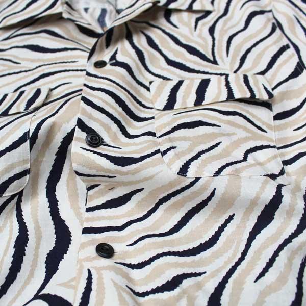 【The GROOVIN HIGH(ザ・グルーヴィンハイ)】1950's Vintage Style Animal ヴィンテージシャツ オープンカラー プリントシャツ ゼブラ柄