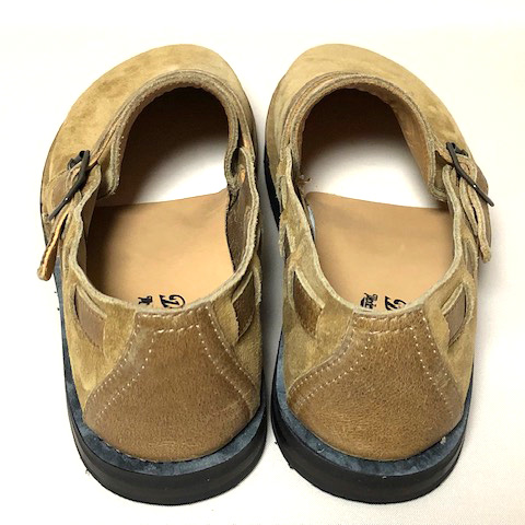 Dapper's(ダッパーズ)】Kudo Leather Slip-on Sandals LOT1393