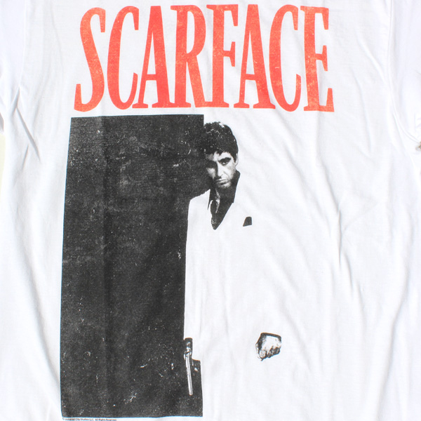 【SCARFACE(スカーフェイス)】 BLACK AND RED (ブラックアンドレッド) T-SHIRTS Al Pacino アル・パチーノ