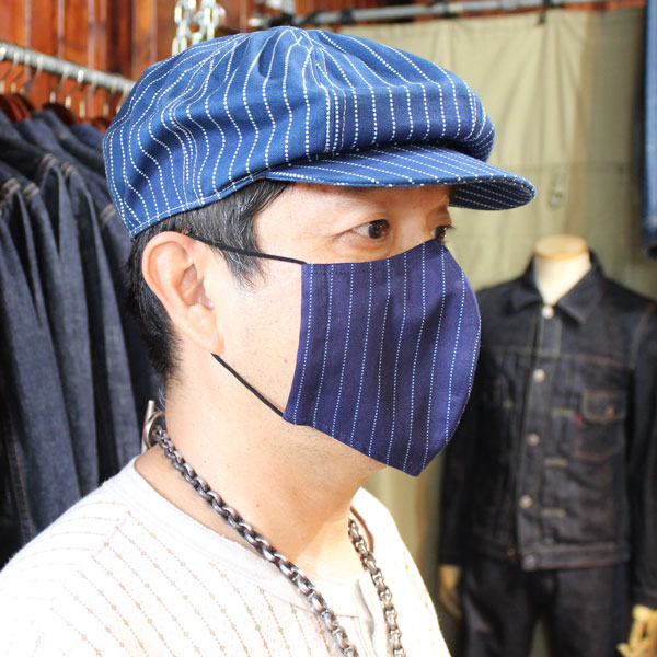 3D立体縫製 インディゴ ウォバッシュデニム デニムマスク DENIM MUSK日本製