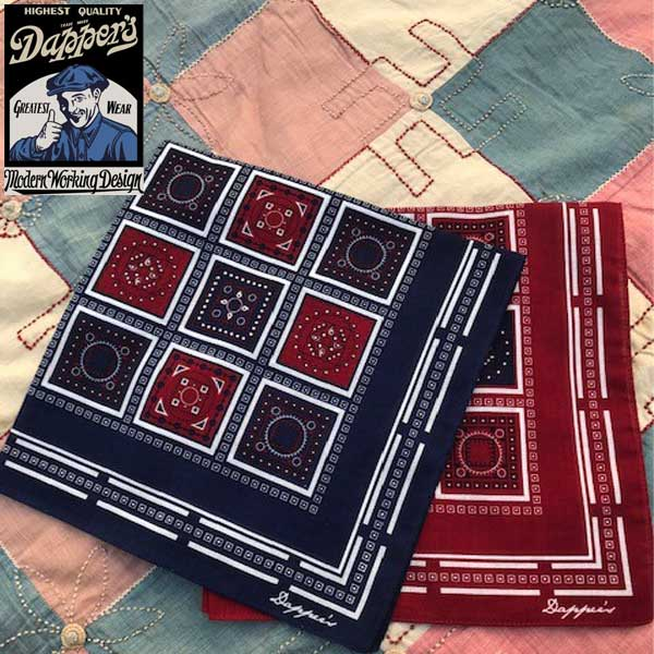 【Dapper's(ダッパーズ)】Bandanna Pattern Bandanna LOT1413A 日MADE IN JAPAN VINTAGE ヴィンテージ レプリカ バンダナ