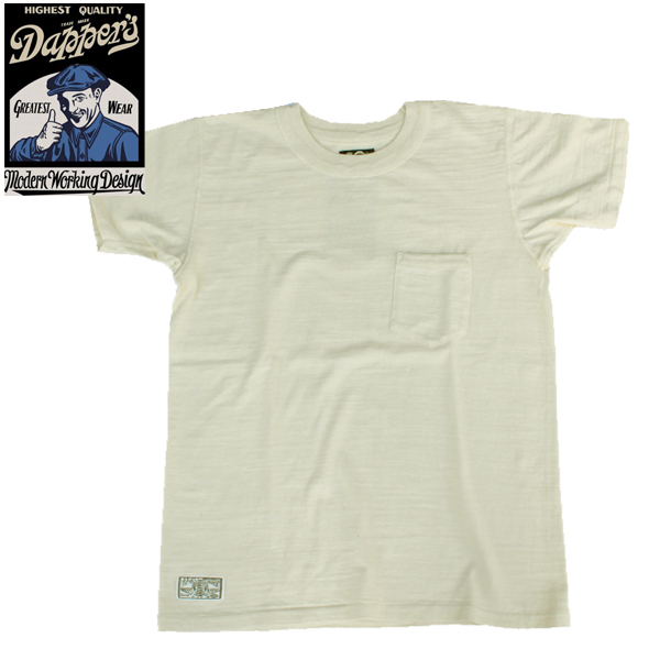 【Dapper's(ダッパーズ)】Standard Crewneck Tee Special Sewing Model LOT1325 丸胴吊り天竺 T-SHIRTS